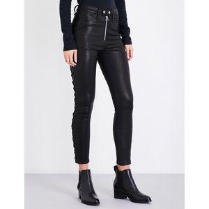 3,500$ Rag & Bone Kiku High Waisted Leather Skinny